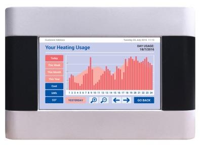Energy Billing's vThree meter heating usage screen.